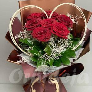 Buket - crvene ruže, cvećara Orhideja Valjevo