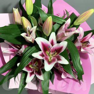 Buket - LJiljan orijental roze, Cvecara Orhideja Valjevo